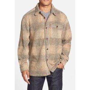 True Grit Melange Blanket Plaid Pocket Big Shirt